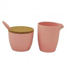 Zuperzozial melkkannetje en suikerpot roze
